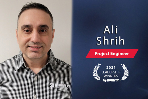 County Prestress Congratulates Ali Shrih – 2021 First Quarter Leadership Award Winner