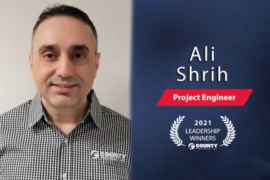 County Prestress Congratulates Ali Shrih – 2021 First Quarter Leadership Award Winner