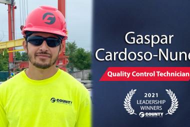 County Prestress Congratulates Gaspar Cardoso-Nunez –  2021 Second Quarter Leadership Award Winner