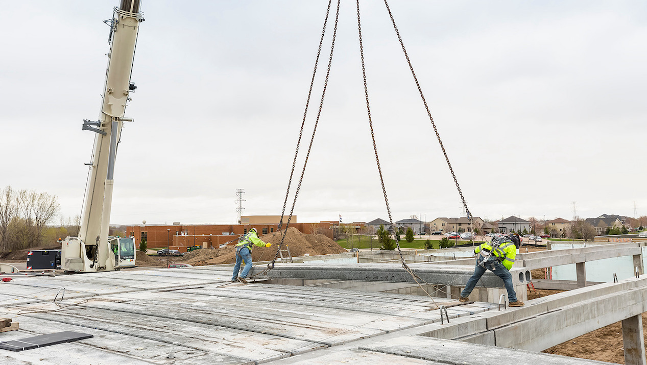 County Prestress' Hollowcore is an Efficient, Cost-Effective  Podium and Total Precast System Solution