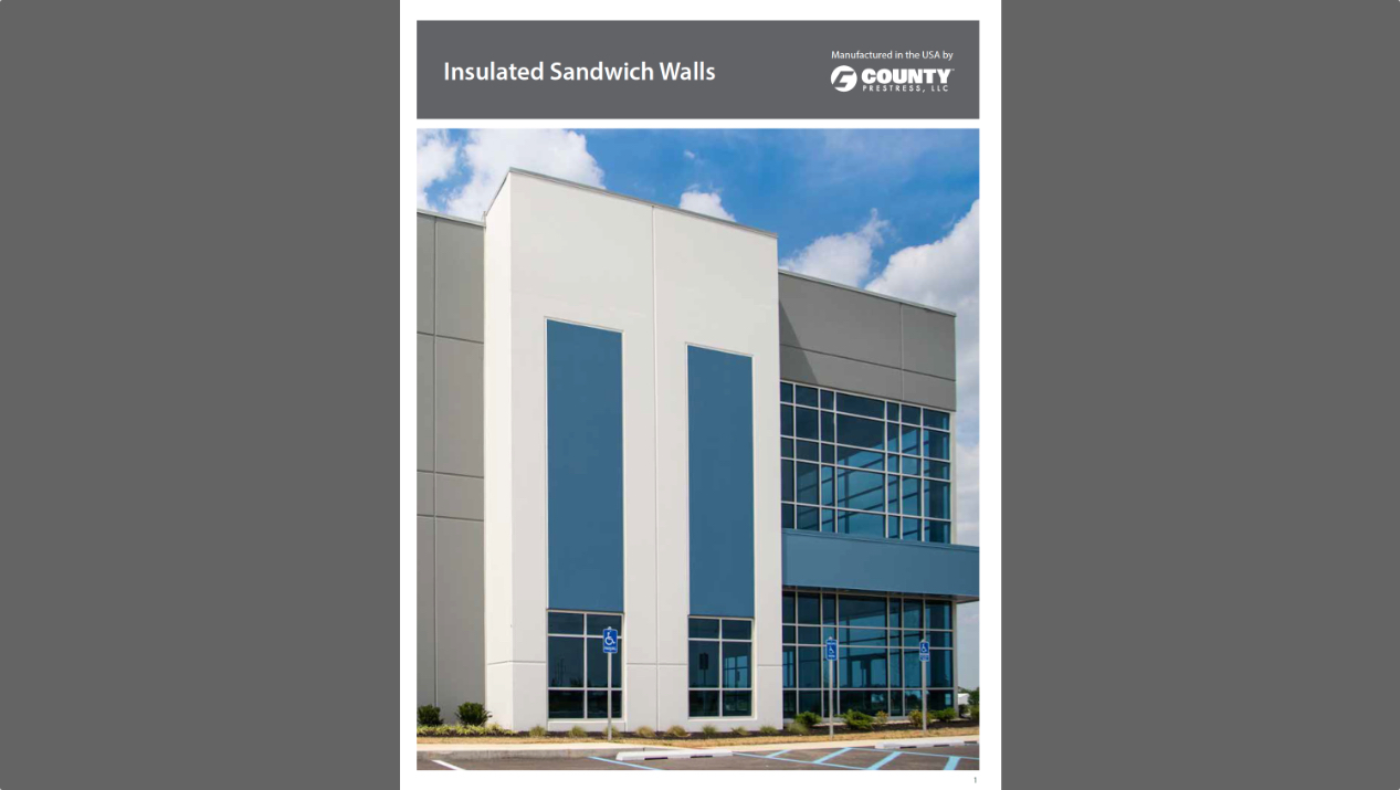 County Prestress Releases Insulated Sandwich Walls Brochure