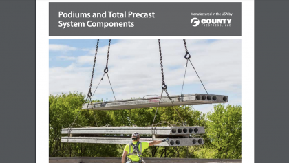 County Prestress Releases Podiums and Total Precast Systems Components Brochure